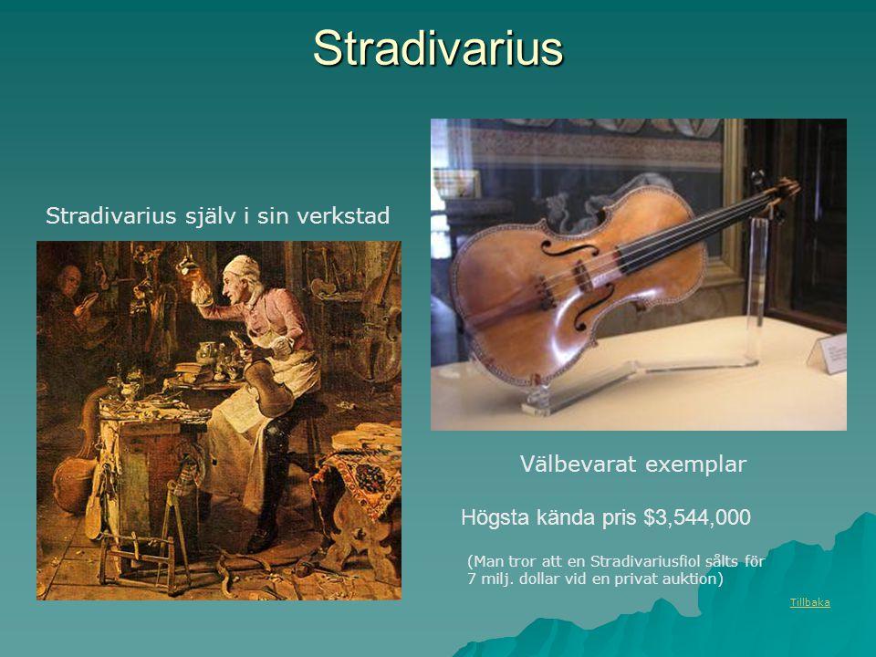 Stradivarius Stradivarius själv i sin verkstad Välbevarat exemplar