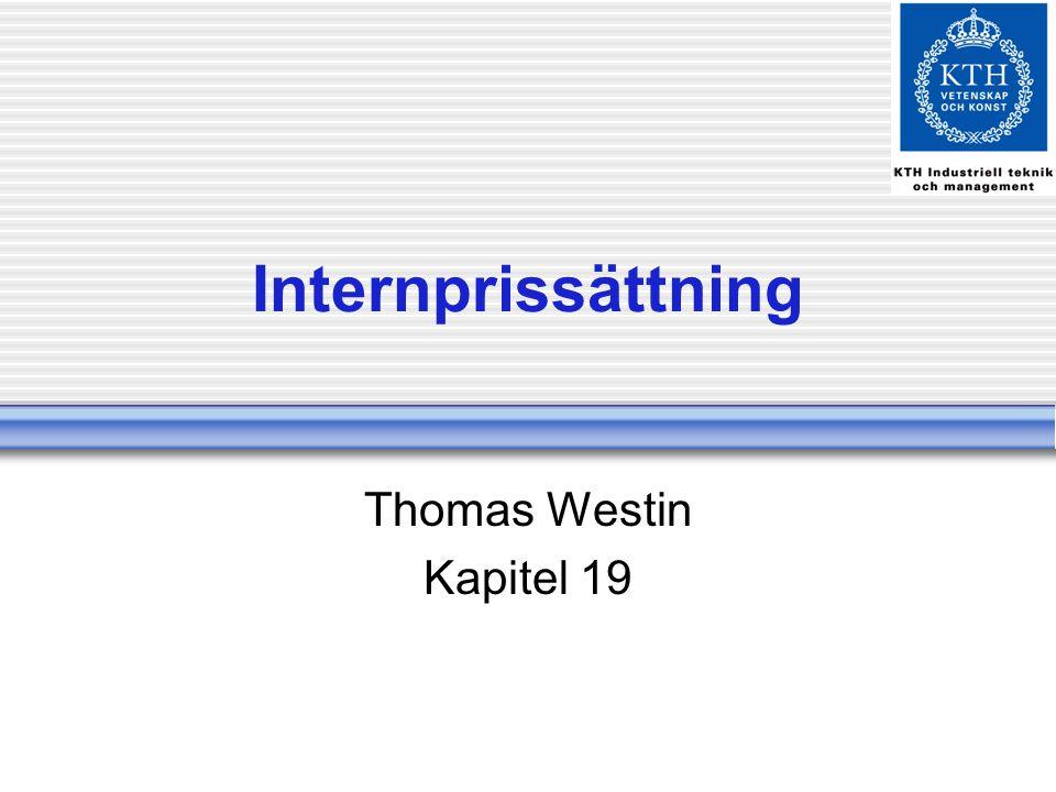 Internprissättning Thomas Westin Kapitel 19
