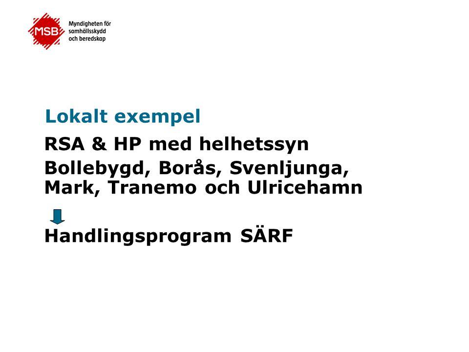 Lokalt exempel RSA & HP med helhetssyn. Bollebygd, Borås, Svenljunga, Mark, Tranemo och Ulricehamn.