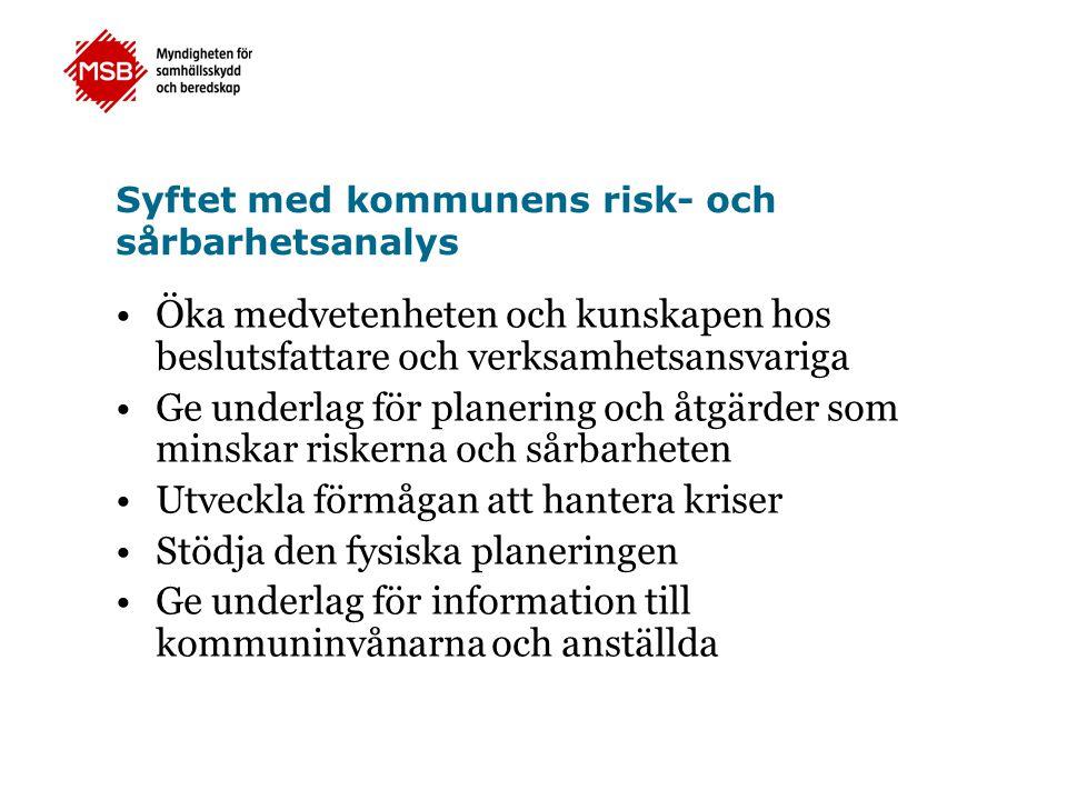 Syftet med kommunens risk- och sårbarhetsanalys
