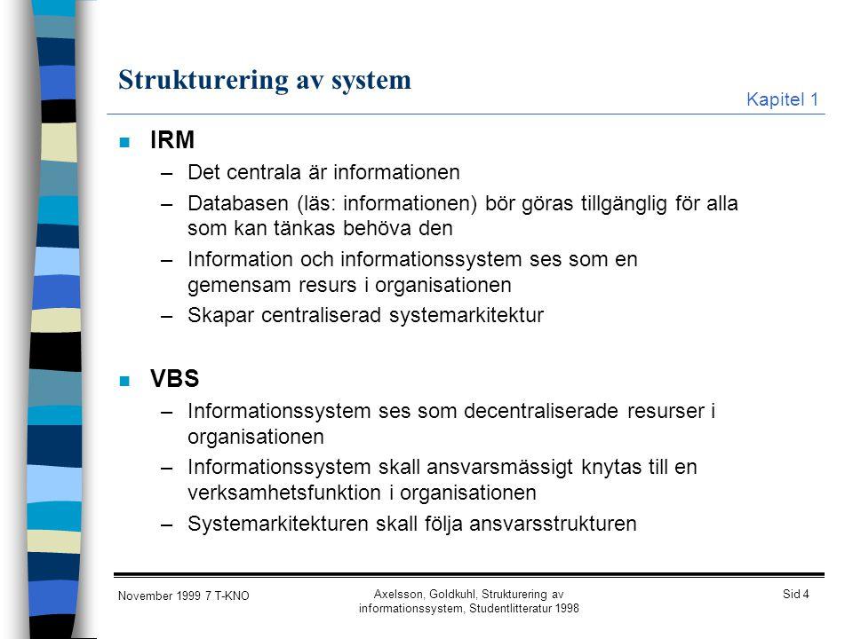 Strukturering av system