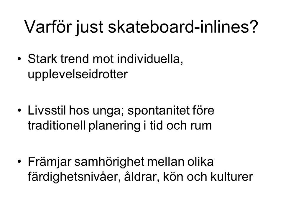 Varför just skateboard-inlines