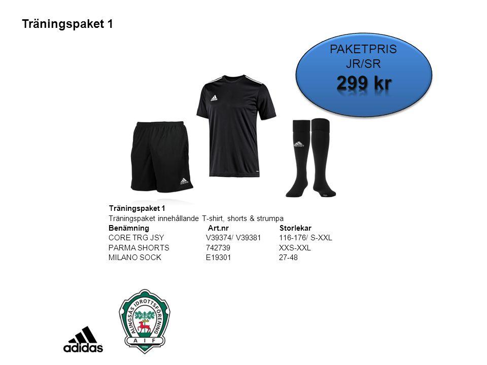 299 kr Träningspaket 1 PAKETPRIS JR/SR Träningspaket 1