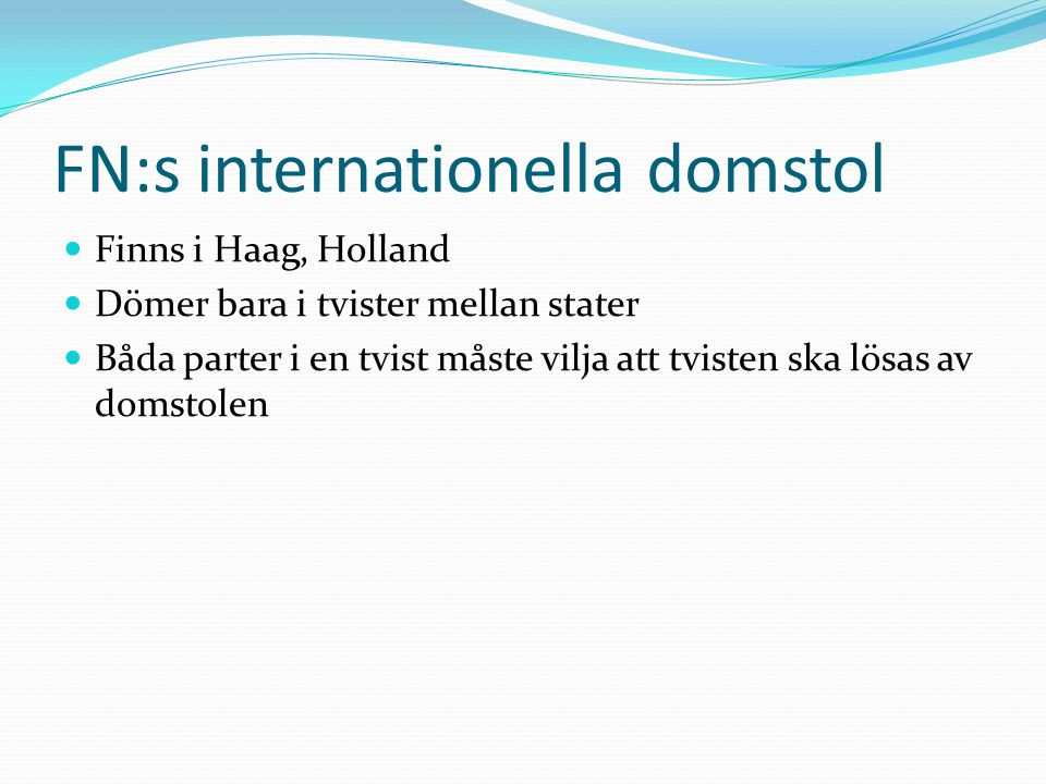FN:s internationella domstol