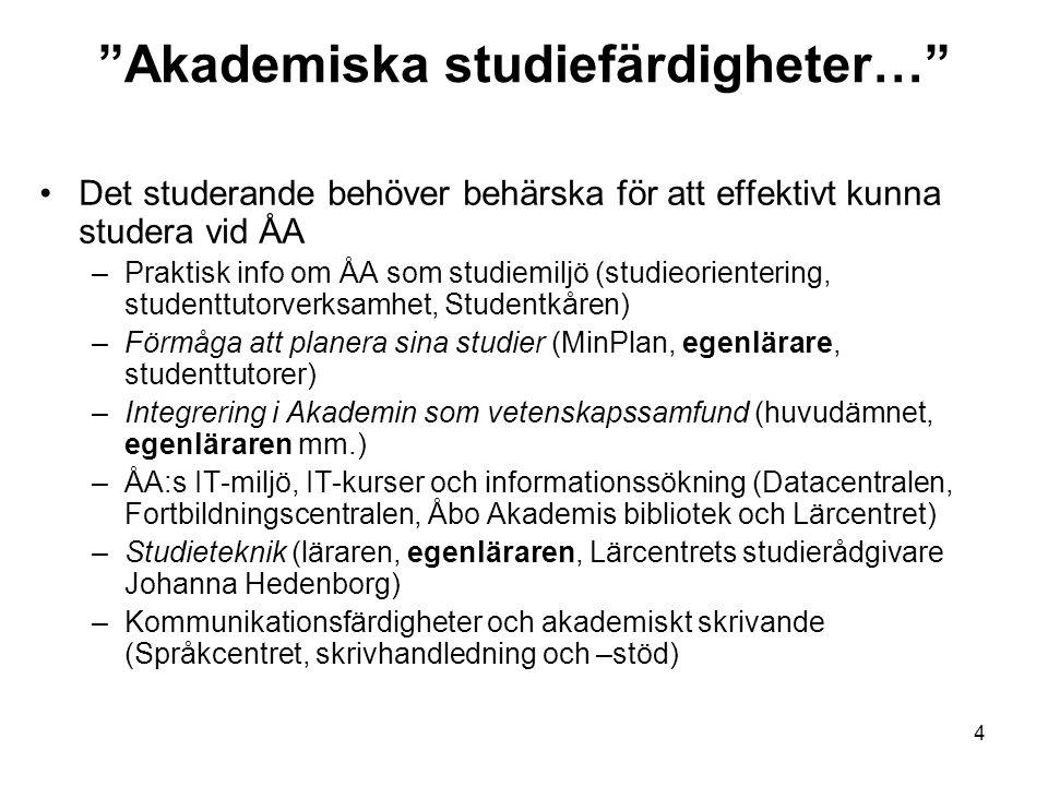 Akademiska studiefärdigheter…