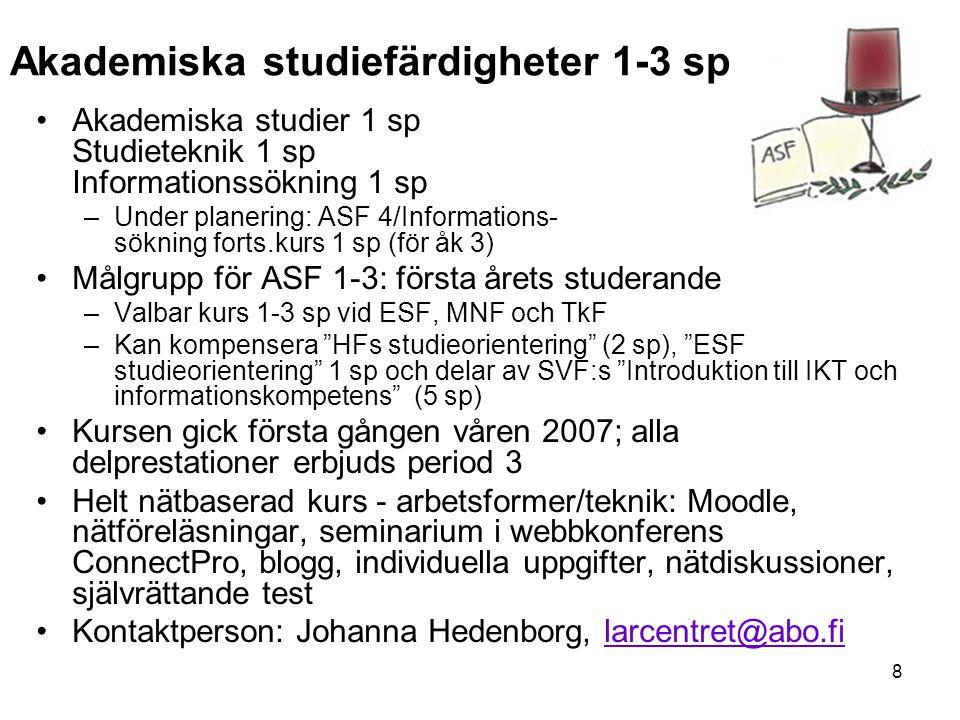 Akademiska studiefärdigheter 1-3 sp