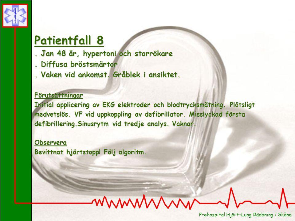 Patientfall 7 . Peter 18 år, frisk . Commotio cordis (hjärtskakning)