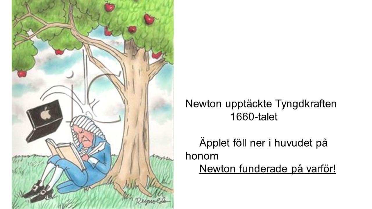 Newton upptäckte Tyngdkraften