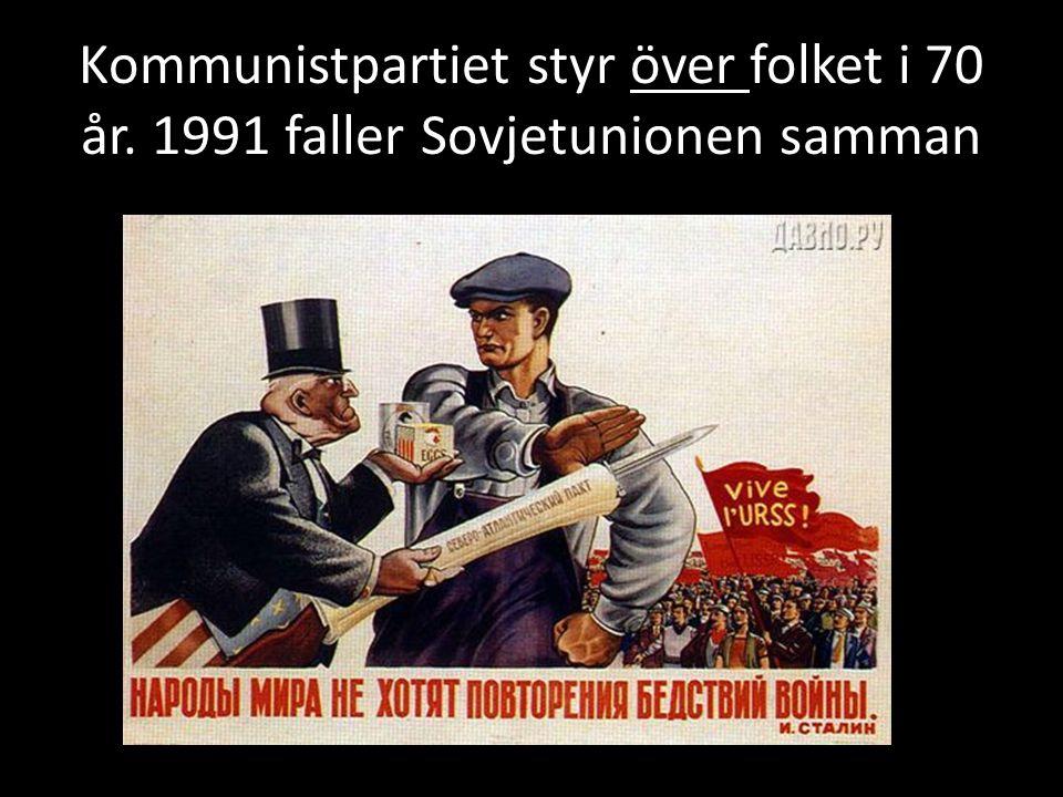 Kommunistpartiet styr över folket i 70 år