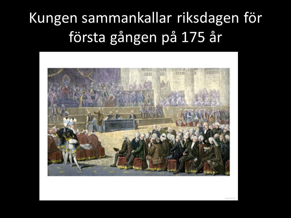 Kungen sammankallar riksdagen för första gången på 175 år