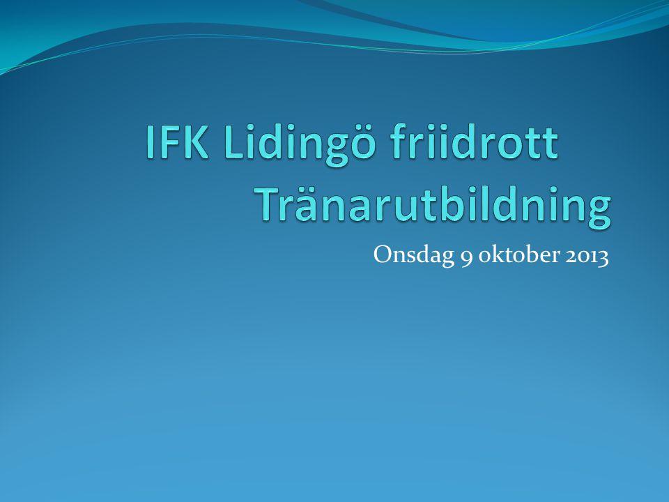 IFK Lidingö friidrott Tränarutbildning