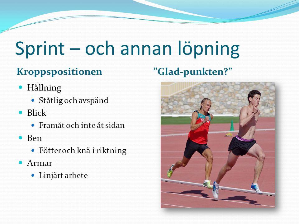 Sprint – och annan löpning