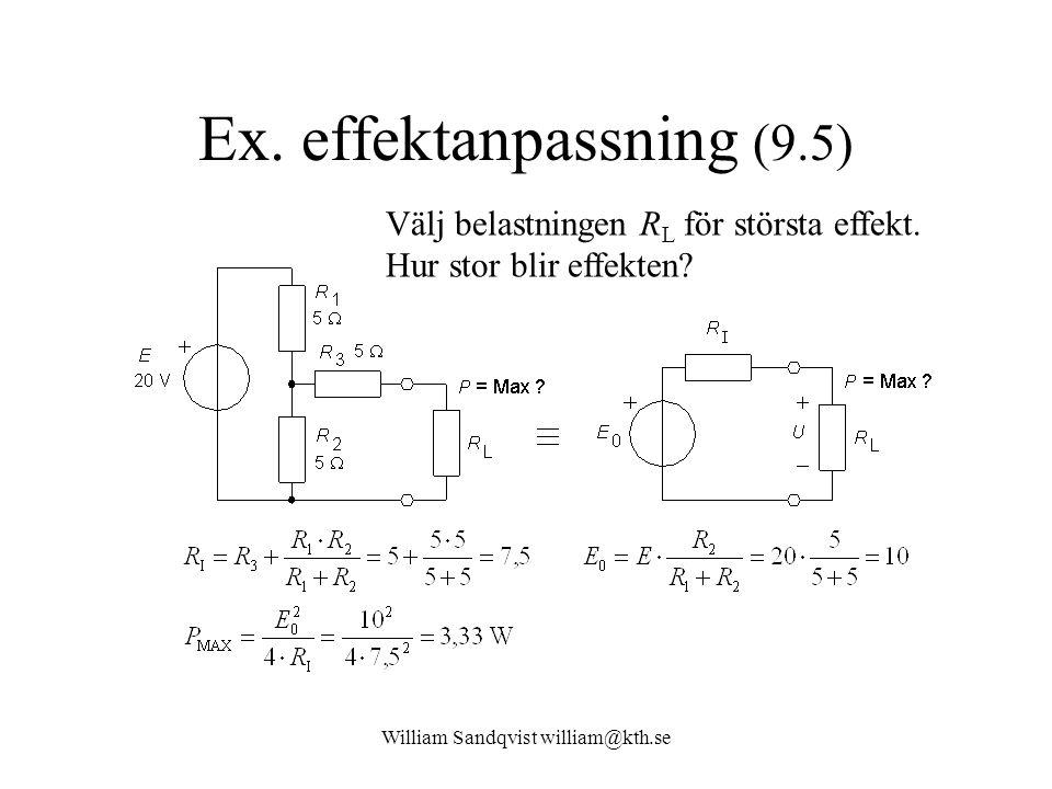 Ex. effektanpassning (9.5)