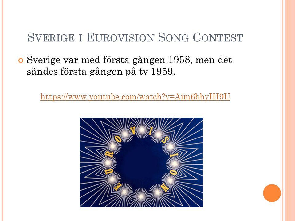 Sverige i Eurovision Song Contest