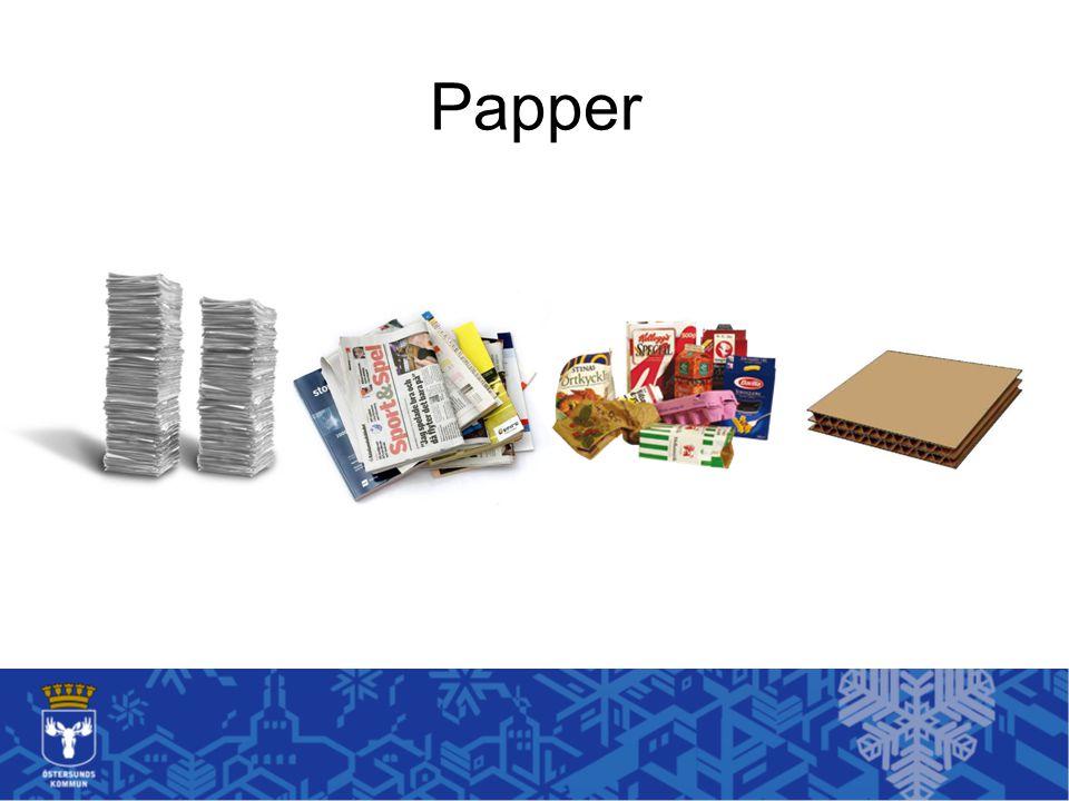 Papper Papper är lite klurigt av sig när det gäller sortering.