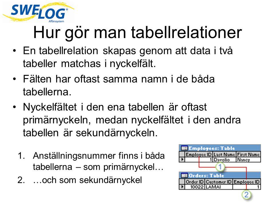 Hur gör man tabellrelationer