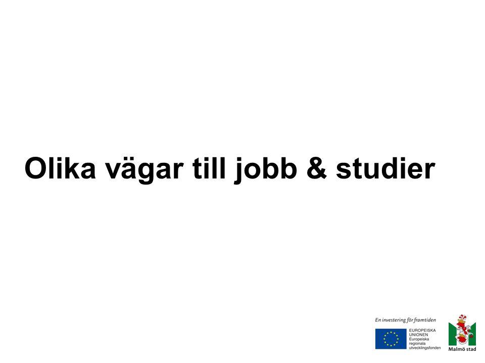 Olika vägar till jobb & studier