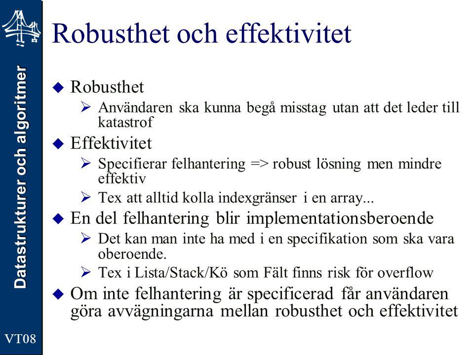 Robusthet och effektivitet
