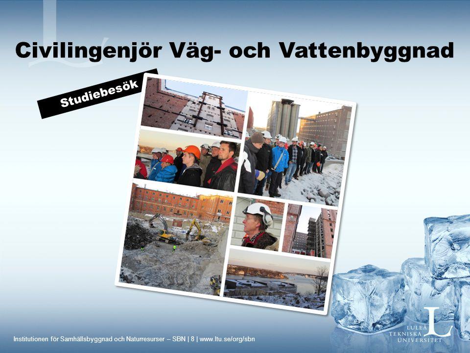 Civilingenjör Väg- och Vattenbyggnad