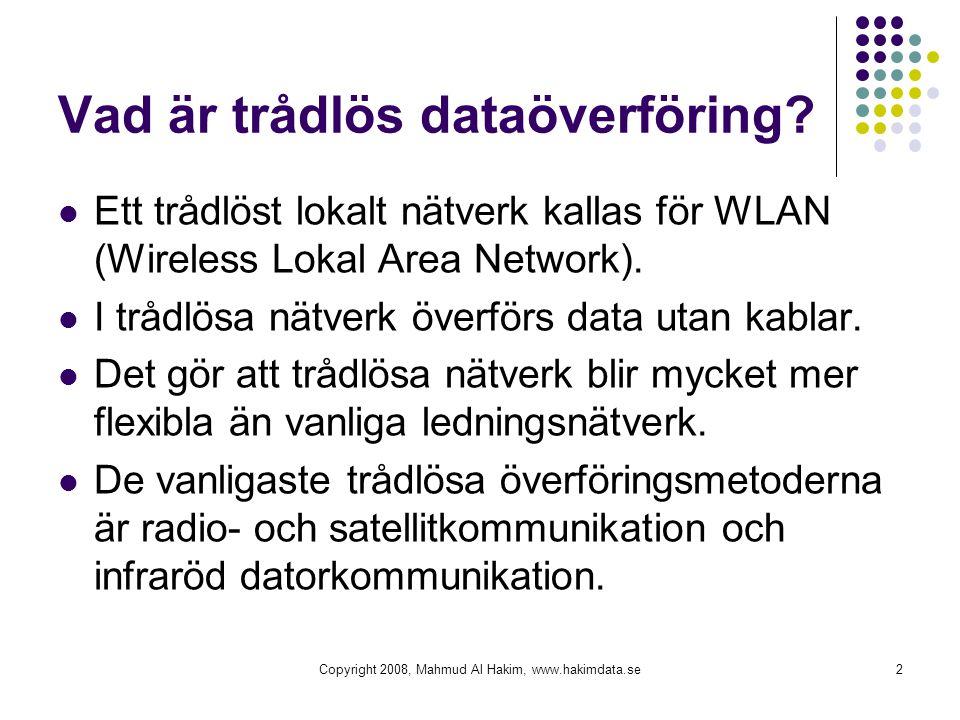 Vad är trådlös dataöverföring