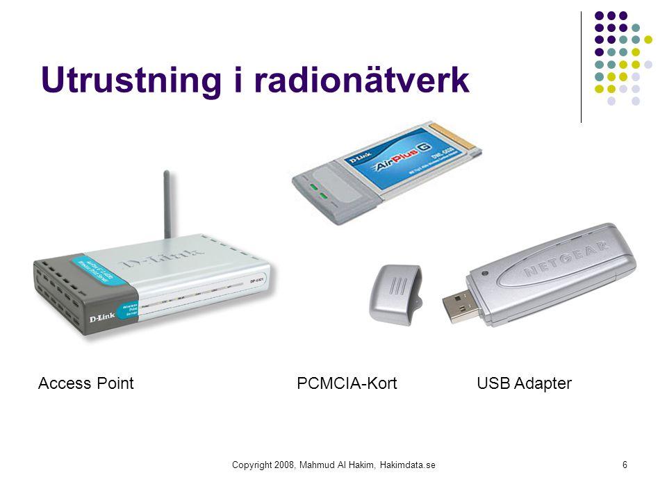 Utrustning i radionätverk