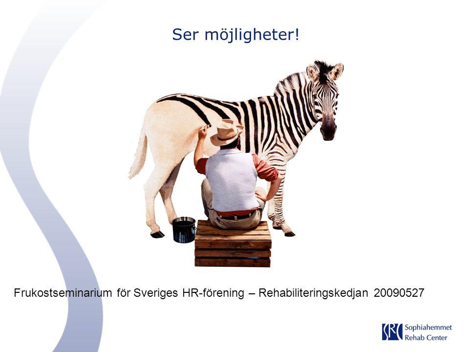 Ser möjligheter! Frukostseminarium för Sveriges HR-förening – Rehabiliteringskedjan 20090527