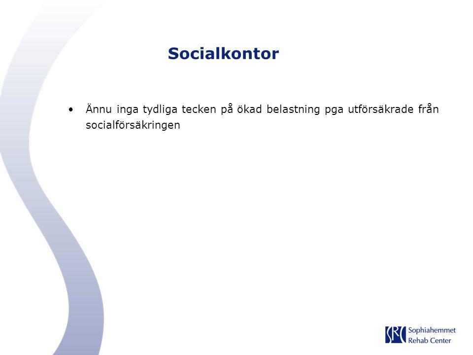 Socialkontor Ännu inga tydliga tecken på ökad belastning pga utförsäkrade från socialförsäkringen