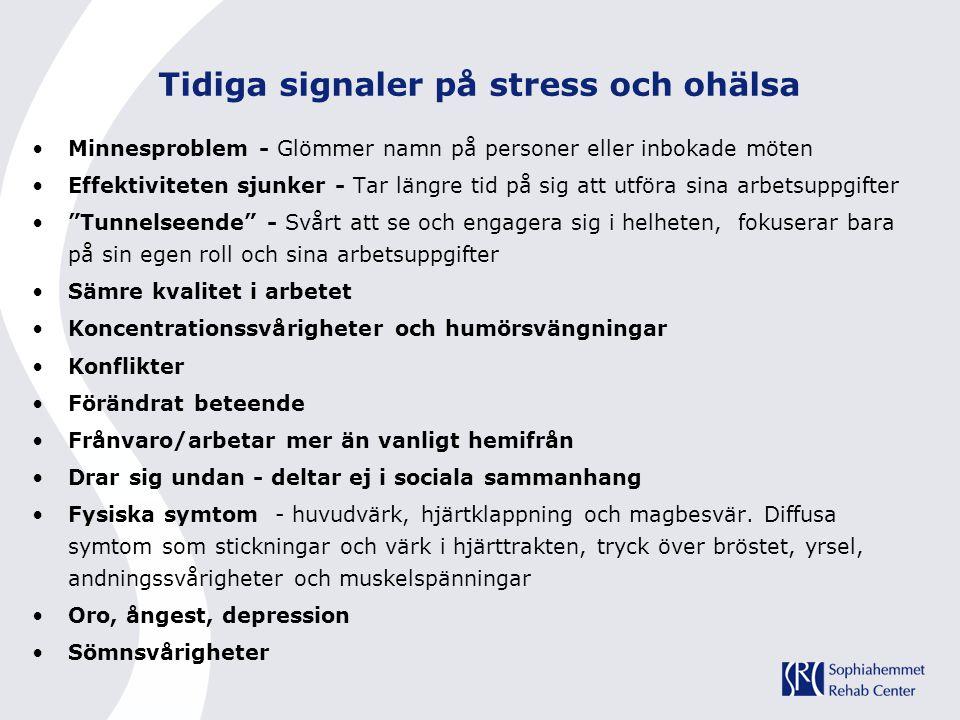 Tidiga signaler på stress och ohälsa