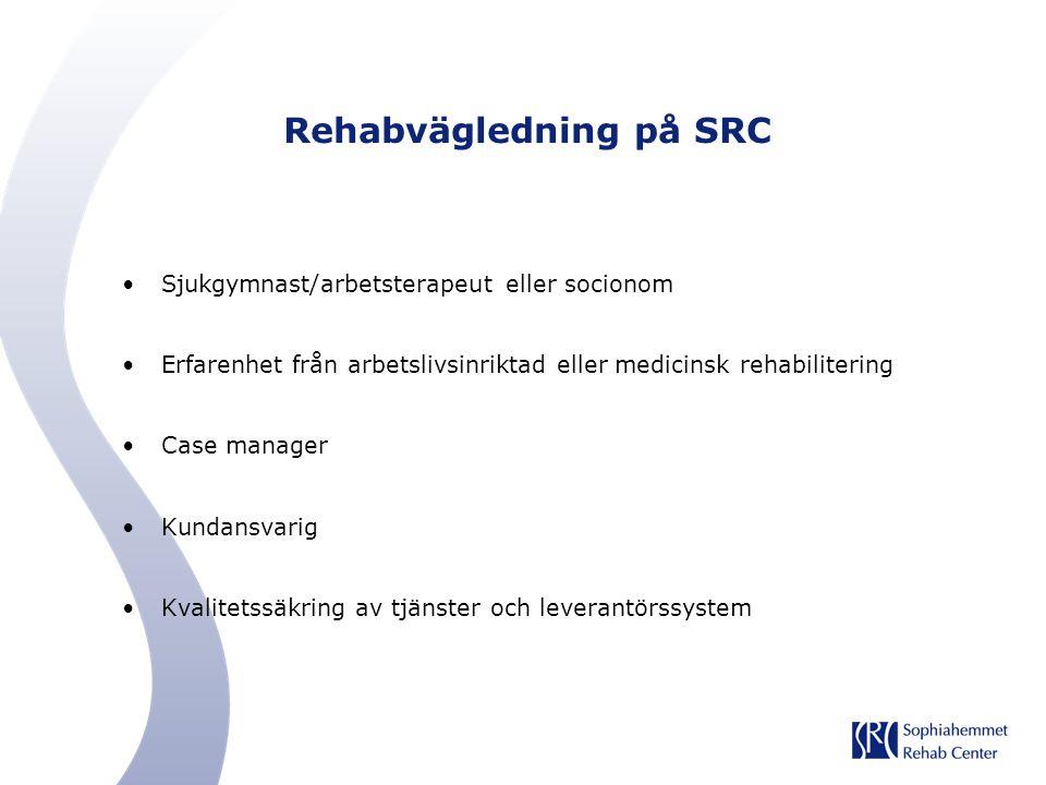 Rehabvägledning på SRC