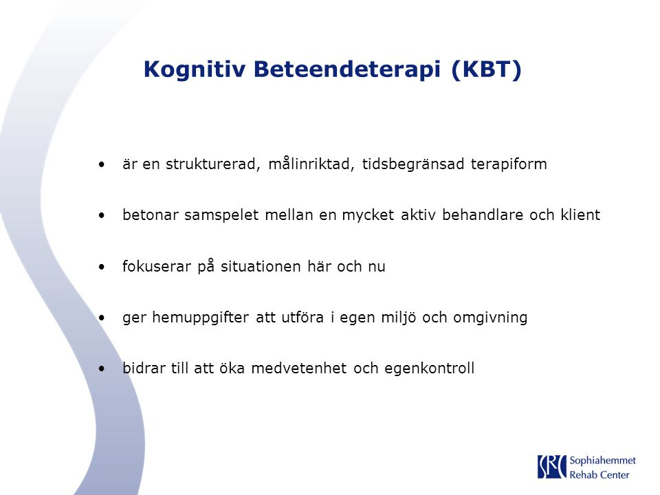 Kognitiv Beteendeterapi (KBT)