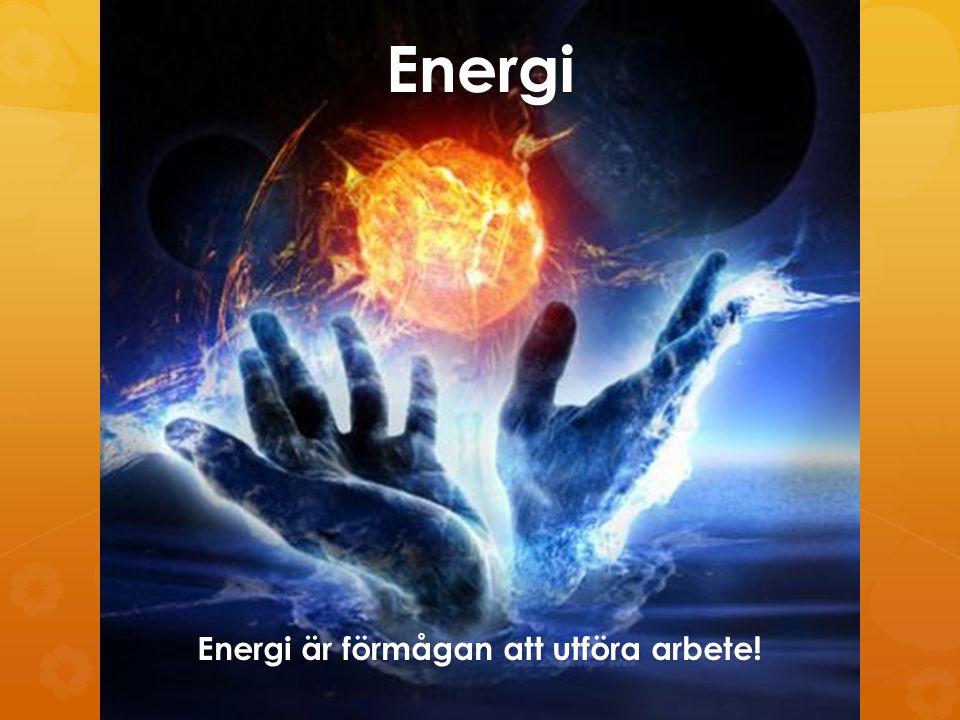 Energi är förmågan att utföra arbete!