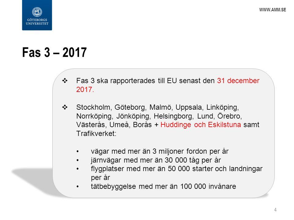 www.amm.se Fas 3 – 2017. Fas 3 ska rapporterades till EU senast den 31 december 2017.