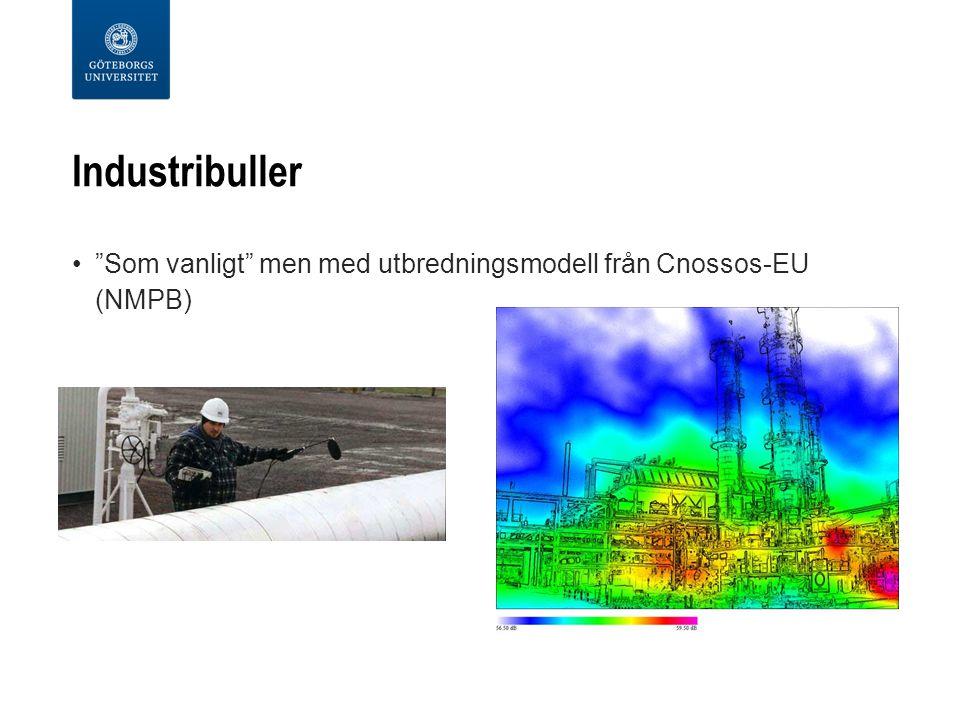 Industribuller Som vanligt men med utbredningsmodell från Cnossos-EU (NMPB)