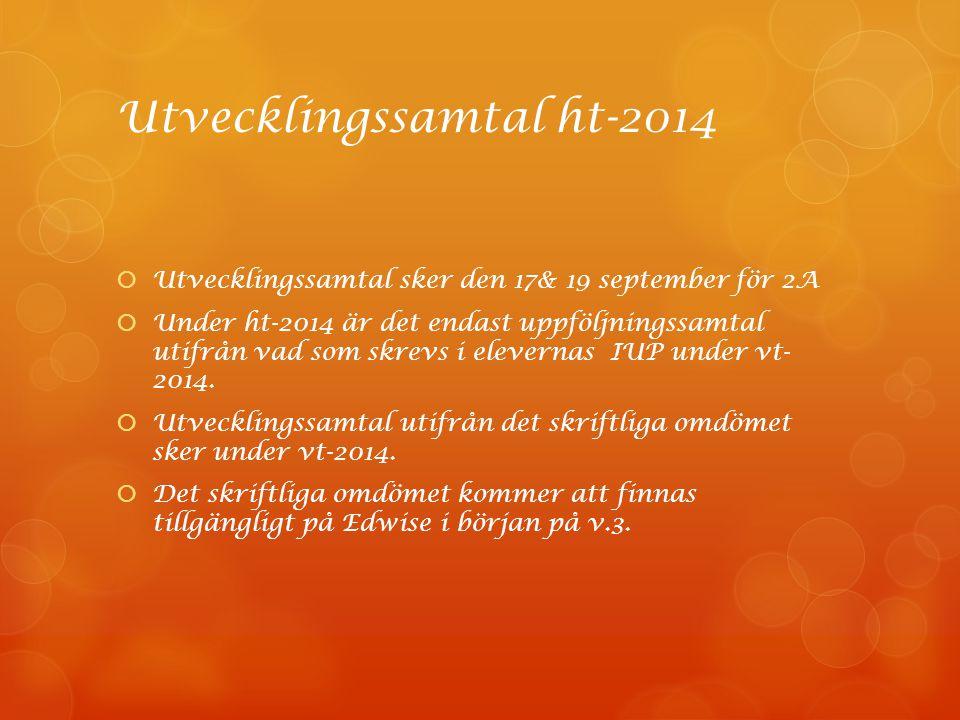 Utvecklingssamtal ht-2014