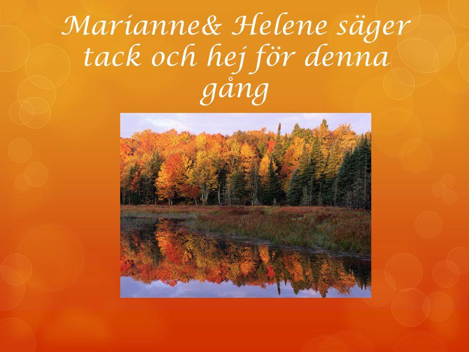 Marianne& Helene säger tack och hej för denna gång