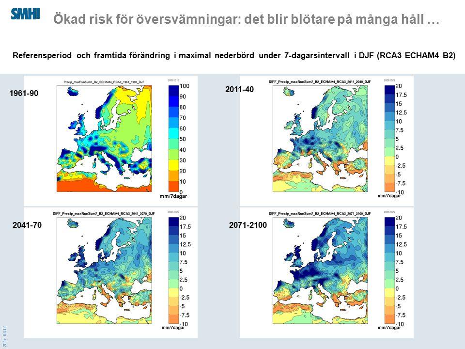 Ökad risk för översvämningar: det blir blötare på många håll …