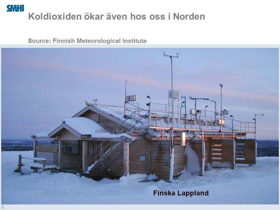 Koldioxiden ökar även hos oss i Norden Source: Finnish Meteorological Institute