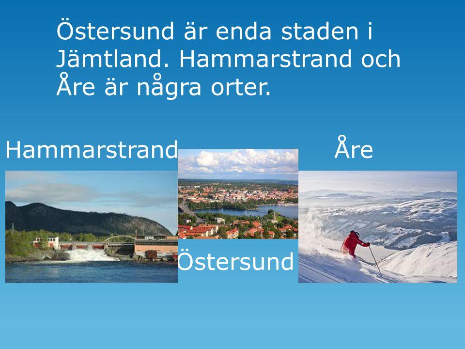 Östersund är enda staden i Jämtland