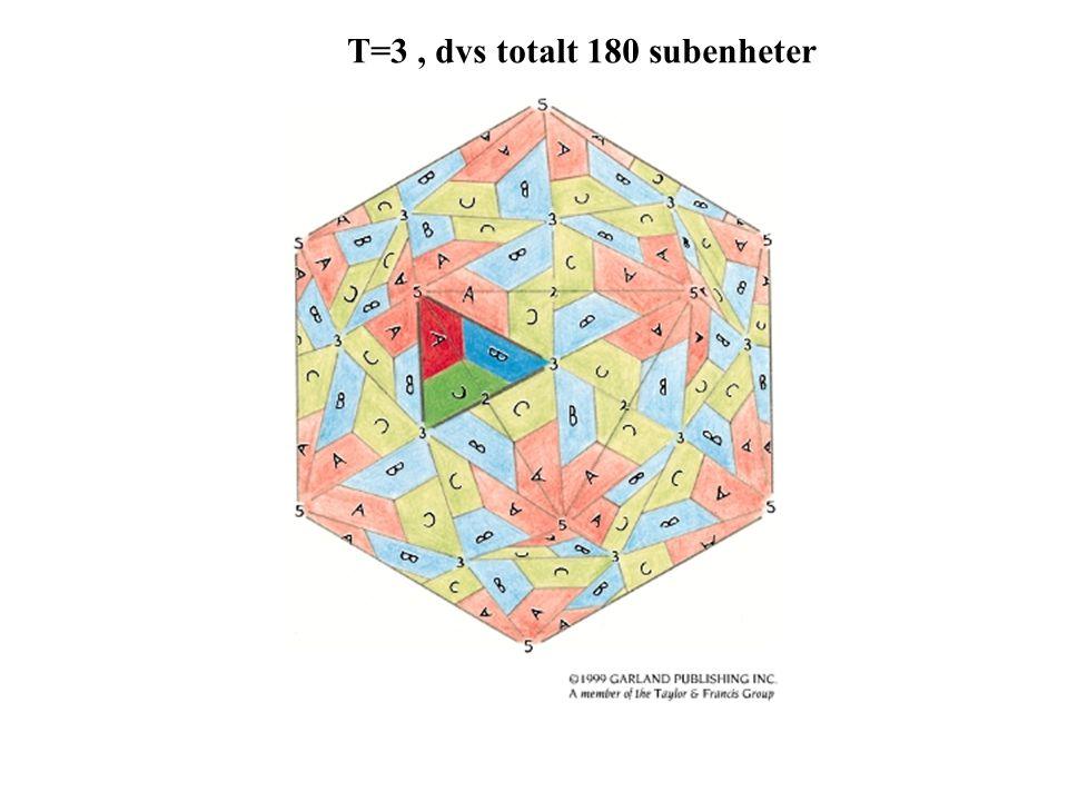 T=3 , dvs totalt 180 subenheter