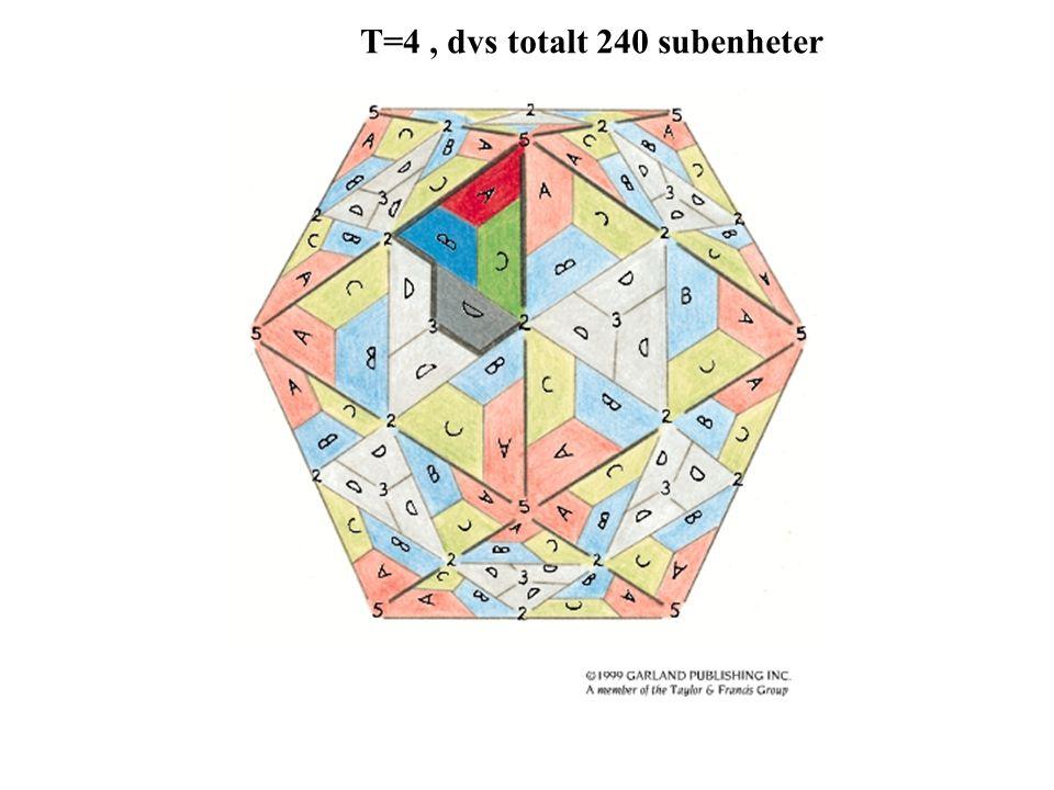 T=4 , dvs totalt 240 subenheter