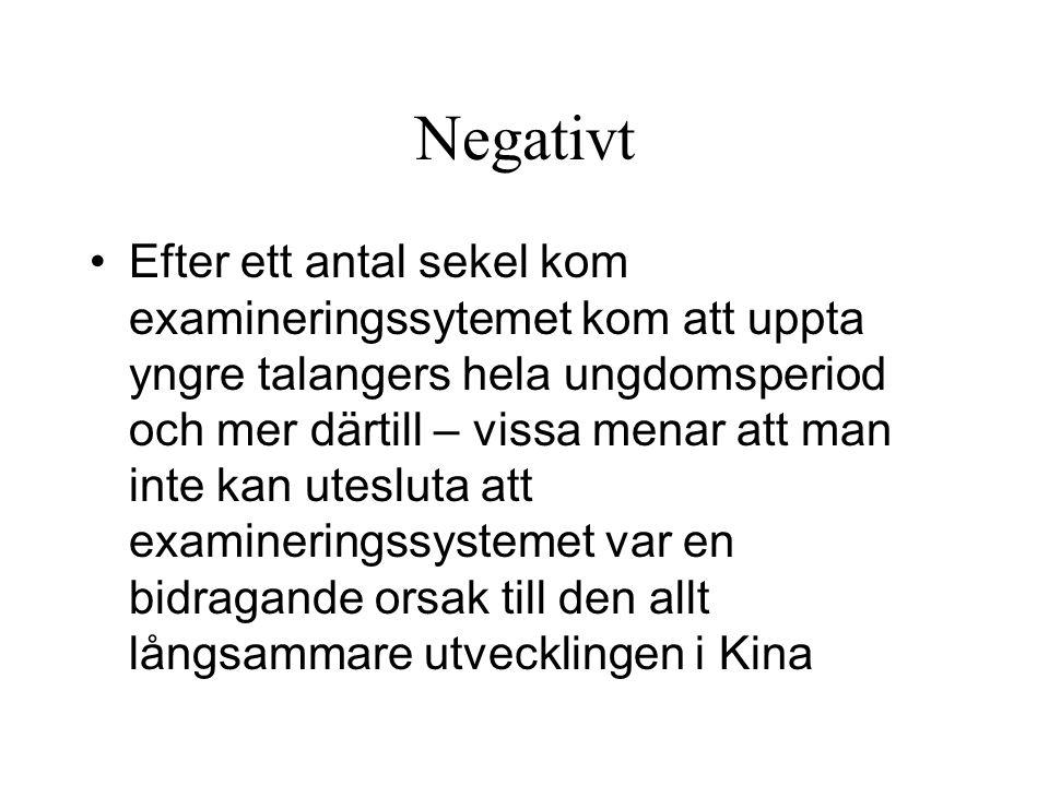 Negativt