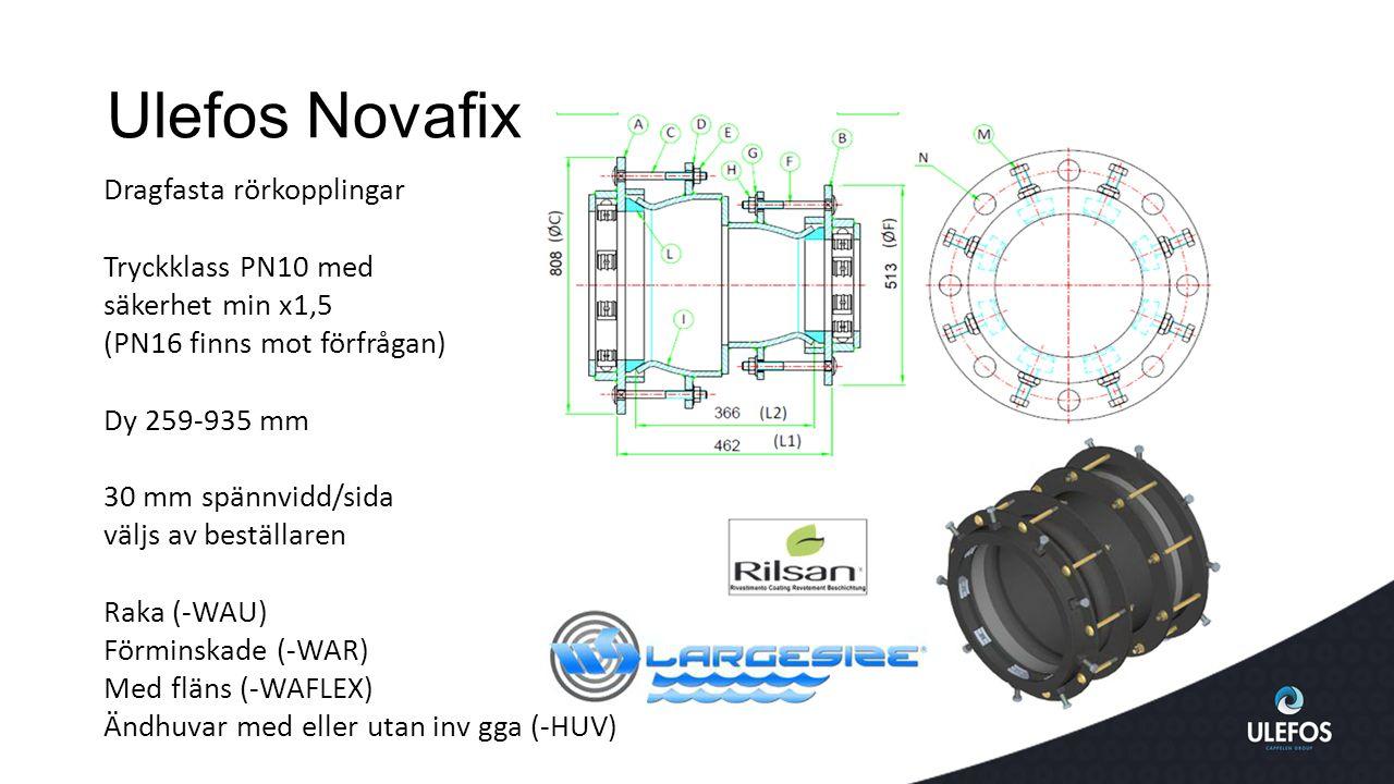 Ulefos Novafix Dragfasta rörkopplingar Tryckklass PN10 med