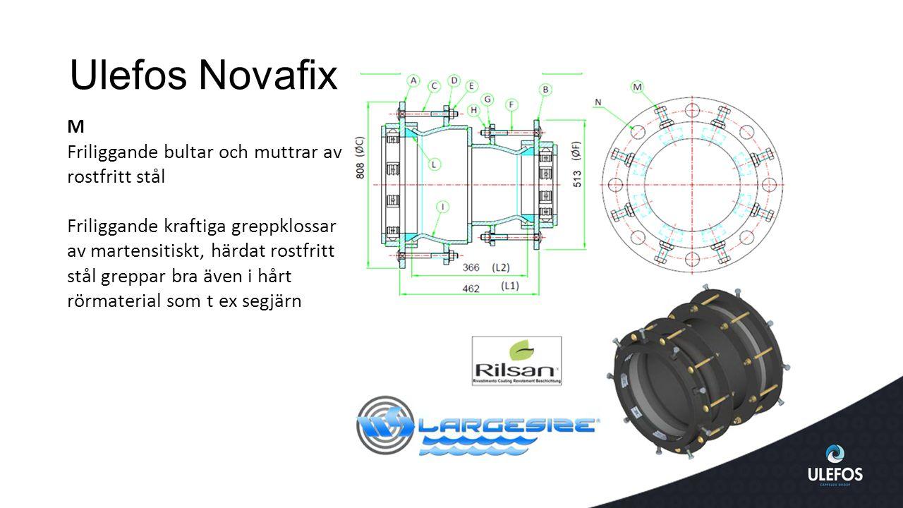 Ulefos Novafix M Friliggande bultar och muttrar av rostfritt stål
