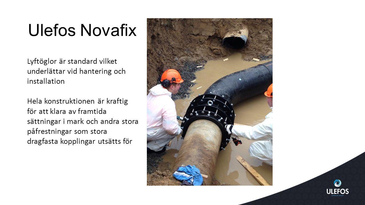Ulefos Novafix Lyftöglor är standard vilket underlättar vid hantering och installation.
