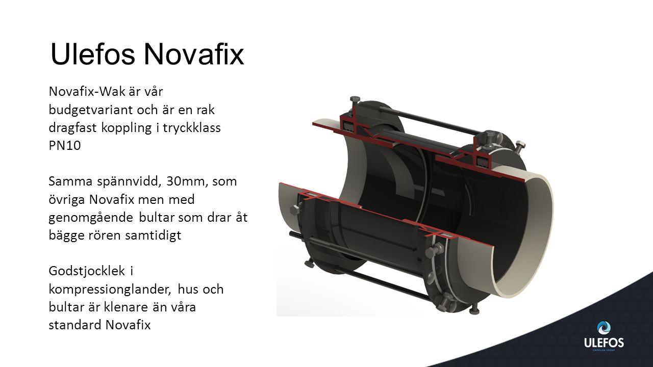 Ulefos Novafix Novafix-Wak är vår budgetvariant och är en rak dragfast koppling i tryckklass PN10.
