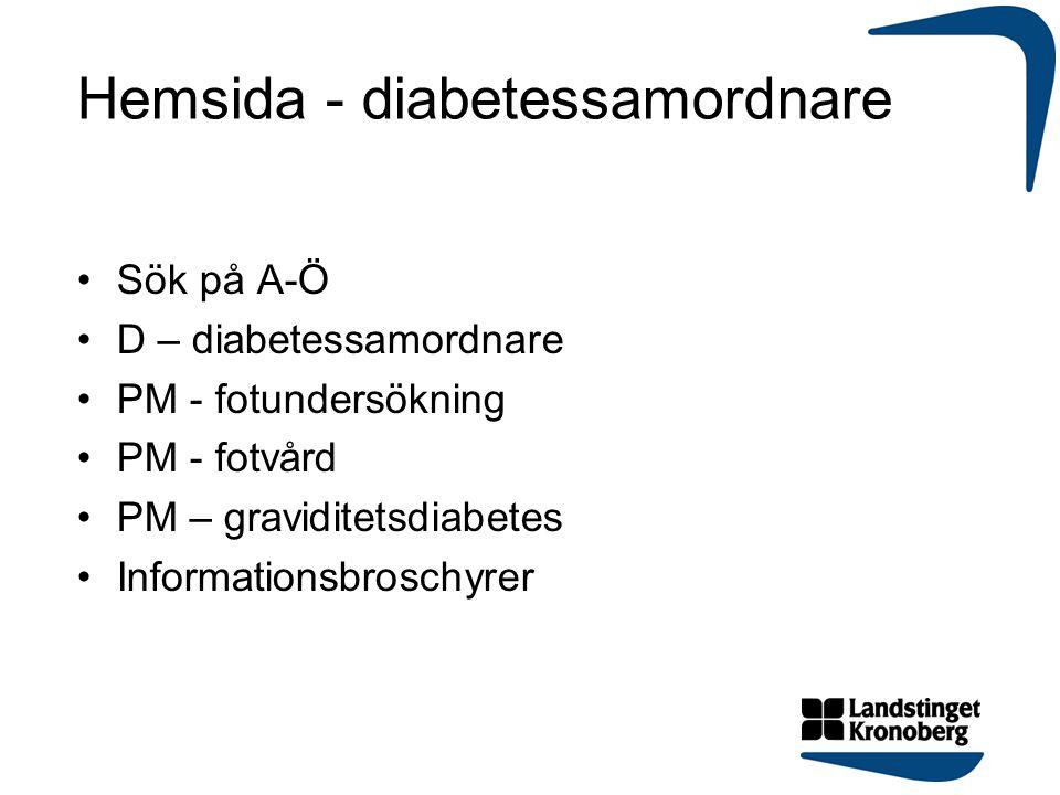 Hemsida - diabetessamordnare