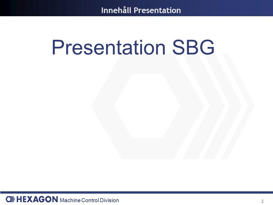 Innehåll Presentation