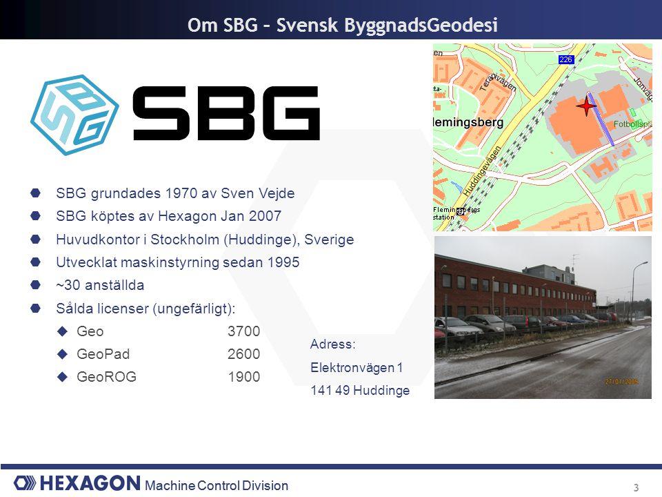 Om SBG – Svensk ByggnadsGeodesi