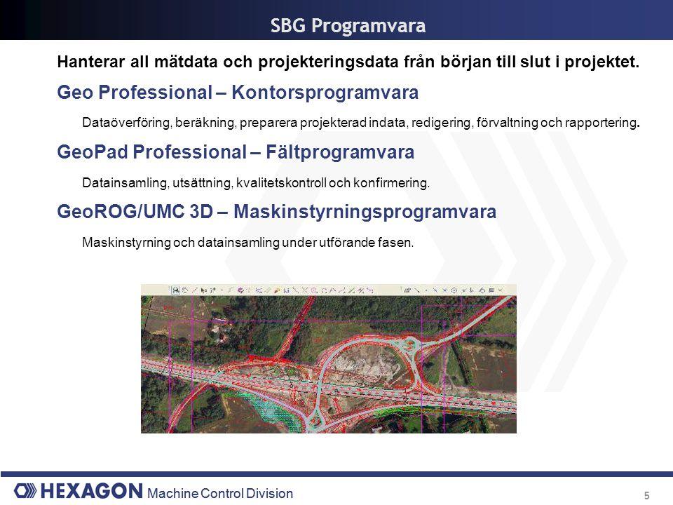 SBG Programvara Geo Professional – Kontorsprogramvara