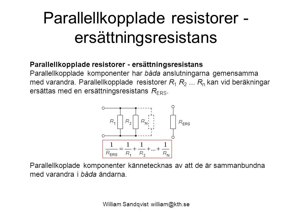 Parallellkopplade resistorer - ersättningsresistans